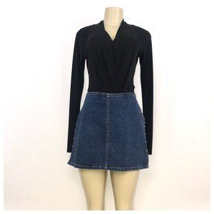 Tommy Blue Denim Mini Skirt Size 10